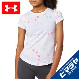 アンダーアーマー Tシャツ 半袖 ジュニア UAライブ プリント ワードマーク トレーニング GIRLS 1351654-100 UNDER ARMOUR