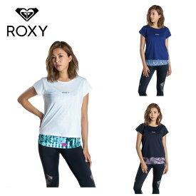 ロキシー ROXY Tシャツ 半袖 レディース 速乾 UVカットTシャツ&カップ付きキャミセット FULL MOON SET TEE RST201527