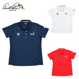 アーノルドパーマー arnold palmer ゴルフウェア ポロシャツ 半袖 レディース ワッペン半袖シャツ AP220301J01