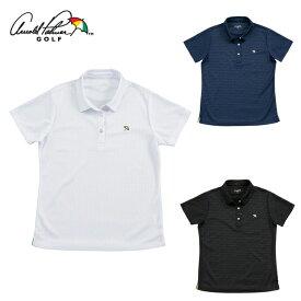 アーノルドパーマー arnold palmer ゴルフウェア ポロシャツ 半袖 レディース エンボス半袖ポロシャツ AP220301J02
