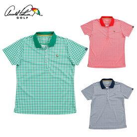 アーノルドパーマー arnold palmer ゴルフウェア ポロシャツ 半袖 レディース ギンガムチェック半袖シャツ AP220301J04