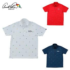アーノルドパーマー arnold palmer ゴルフウェア ポロシャツ 半袖 メンズ ドット柄半袖シャツ AP220101J07