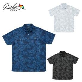 アーノルドパーマー arnold palmer ゴルフウェア ポロシャツ 半袖 メンズ リーフ柄半袖シャツ AP220101J13