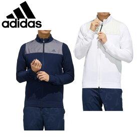 アディダス ゴルフウェア セーター メンズ ファブリックミックス 長袖 フルジップセーター GLD17 adidas