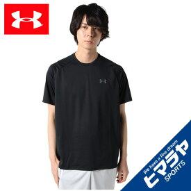 【エントリーで5倍 8/10〜8/11まで】 アンダーアーマー Tシャツ 半袖 メンズ UAテック ショートスリーブ Tシャツ 1358553-001 UNDER ARMOUR