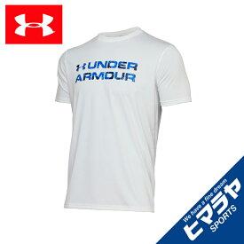 【エントリーで5倍 8/10〜8/11まで】 アンダーアーマー Tシャツ 半袖 メンズ UAテック ワード マーク シーズナル 1359135 100 UNDER ARMOUR