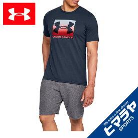 【エントリーで5倍 8/10〜8/11まで】 アンダーアーマー Tシャツ 半袖 メンズ BOXED SPORTSTYLE SS ボックスロゴ機能T 1358569-408 UNDER ARMOUR