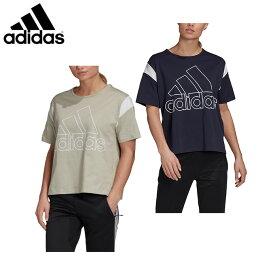 アディダス Tシャツ 半袖 レディース ビッグロゴ ルーズTシャツ JJW47 adidas