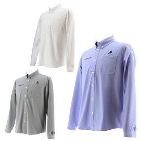 ルコック le coq sportif ゴルフウェア ポロシャツ 長袖 メンズ Mバースアイハイゲージ長袖シャツ QGMPJB00