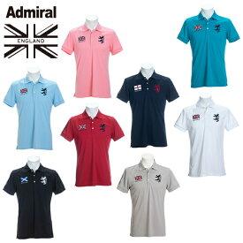 アドミラル Admiral ゴルフウェア ポロシャツ 半袖 メンズ フラッグ半袖ポロシャツ ADMA016