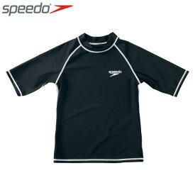スピード ラッシュガード 半袖 ジュニア ハーフスリーブラッシュガード SD65J15-K speedo