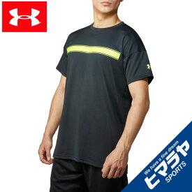 【エントリーで5倍 8/10〜8/11まで】 アンダーアーマー 野球ウェア 半袖Tシャツ メンズ UAテック ショートスリーブ ライン テキスト シャツ 1354250-001 UNDER ARMOUR
