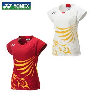 ヨネックス バドミントンウェア ゲームシャツ レディース バドミントン 日本代表 フィットシャツ 20567 YONEX