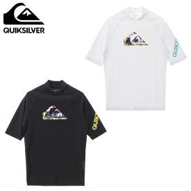 クイックシルバー ラッシュガード 半袖 メンズ UVカット UPF50+ ALL TIME SR REGULAR FIT QLY201071 QUIKSILVER
