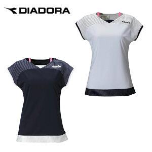 ディアドラ DIADORA テニスウェア バドミントンウェア Tシャツ 半袖 ジュニア コンペティショントップ DTJ0390