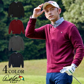 アーノルドパーマー arnold palmer ゴルフウェア セーター メンズ Vネックセーター AP220204J02