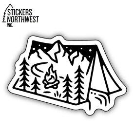 ステッカーズノースウエスト STICKERS NORTHWEST ステッカー TENT SCENE 0344-LSTK