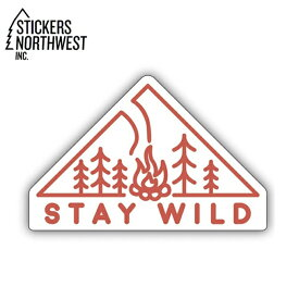 ステッカーズノースウエスト STICKERS NORTHWEST ステッカー STAY WILD FIRE 0365-LSTK