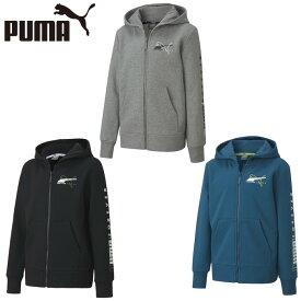 プーマ スウェットパーカー ジュニア ALPHA 裏起毛 フルジップ フーディー 585217 PUMA