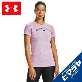 アンダーアーマー Tシャツ 半袖 レディース UAテック ツイスト グラフィック Tシャツ 1356304-537 UNDER ARMOUR