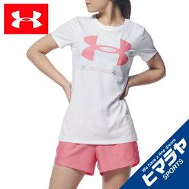 アンダーアーマー Tシャツ 半袖 レディース UAテック ビッグロゴ グラフィック Tシャツ 1360113-100 UNDER ARMOUR