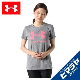 アンダーアーマー Tシャツ 半袖 レディース UAライブ スポーツスタイル グラフィックTシャツ トレーニング WOMEN 1356305-013 UNDER ARMOUR