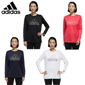 アディダス Tシャツ 長袖 レディース MH BOS 長袖機能Tシャツ IXK58 adidas