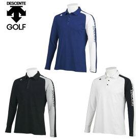 デサントゴルフ DESCENTE GOLF ゴルフウェア ポロシャツ 長袖 メンズ カチオンハイマルチストレッチ長袖ポロ DGMQJB05