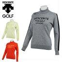デサントゴルフ DESCENTE GOLF ゴルフウェア セーター レディース ロゴジャカードタートルネックセーター DGWQJL07