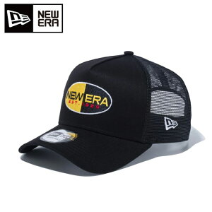 ニューエラ NEW ERA ゴルフ キャップ メンズ レディース 9FORTY A-Frame トラッカー ベーシックファブリックス オーバルロゴ ブラック 12540635