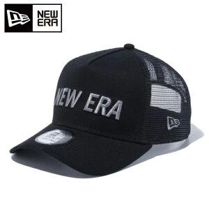 ニューエラ ゴルフ キャップ メンズ レディース 9FORTY A-Frame トラッカー ダックキャンバス NEW ERA ロゴ ブラック 12541340 NEW ERA