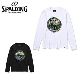 スポルディング SPALDING バスケットボール 長袖シャツ メンズ レディース ミックスカモボール 長袖Tシャツ SMT201110