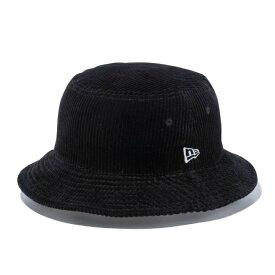 ニューエラ 帽子 ハット メンズ レディース バケット01 コーデュロイ ブラック × スノーホワイト 12540518