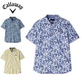 キャロウェイ ゴルフウェア ポロシャツ 半袖 メンズ 花柄プリント半袖シャツ 2411134518 Callaway