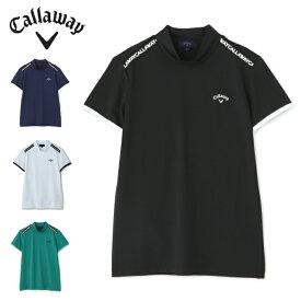 キャロウェイ ゴルフウェア 半袖シャツ レディース ラインモックネック半袖シャツ 2411134801 Callaway