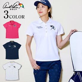 アーノルドパーマー arnold palmer ゴルフウェア ポロシャツ 半袖 レディース ワッペン半袖ポロシャツ AP220301K01