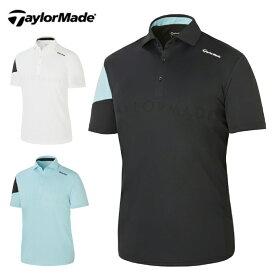 テーラーメイド TaylorMade ゴルフウェア ポロシャツ 半袖 メンズ ジャカードメッシュ S/S ポロ TB142