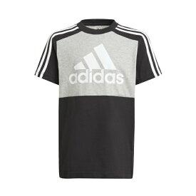 アディダス Tシャツ 半袖 ジュニア エッセンシャルズ カラーブロック 半袖Tシャツ GN3982 29342 adidas