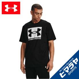 アンダーアーマー Tシャツ 半袖 メンズ UAカモ ボックス ロゴ ショートスリーブ 1361673-001 UNDER ARMOUR