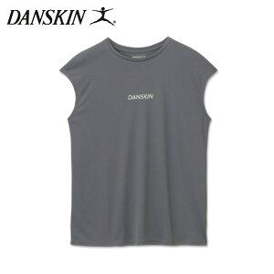 ダンスキン DANSKIN ノースリーブシャツ レディース LOGO FRENCH TEE ロゴフレンチティー DC721126-WA