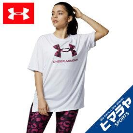 アンダーアーマー Tシャツ 半袖 レディース UAテック アニマル ロゴ Tシャツ 1366865-100 UNDER ARMOUR