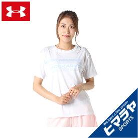 アンダーアーマー Tシャツ 半袖 レディース UA テックボックスグラフィックTシャツ 1364216-100 UNDER ARMOUR