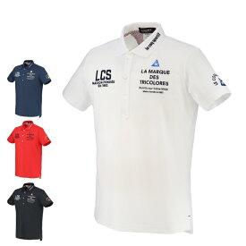 ルコック le coq sportif ゴルフウェア ポロシャツ 半袖 メンズ ドライストレッチ鹿の子半袖ポロ QGMRJA05