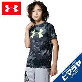 アンダーアーマー Tシャツ 半袖 ジュニア UA テックビッグロゴプリントショートスリーブ トレーニング BOYS 1363278-002 UNDER ARMOUR