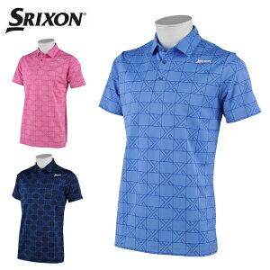 スリクソン SRIXON ゴルフウェア ポロシャツ 半袖 メンズ クロス格子ジャカード半袖ポロ RGMRJA16