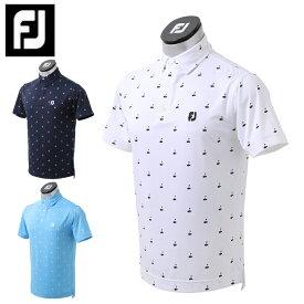 フットジョイ FootJoy ゴルフウェア ポロシャツ 半袖 メンズ ゴルフプリントライルシャツ FJ-S21-S04