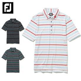 フットジョイ FootJoy ゴルフウェア ポロシャツ 半袖 メンズ ストライプライル半袖ポロ FJ-F20-S02