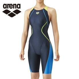 アリーナ arena FINA承認 競泳水着 スパッツ レディース セイフリーバックスパッツ 着やストラップ ARN-0050WN-NVBU