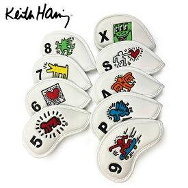 キースヘリング Keith Haring ヘッドカバー アイアン用9個セット ゴルフ アイアンカバー 9個セット KHIC-01