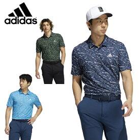 【期間限定対象商品500円クーポン発行中】アディダス ゴルフウェア ポロシャツ 半袖 メンズ PRIMEBLUE 半袖ジャカードシャツ BM543 adidas